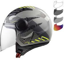 LS2 OF562 Airflow L Camo Open Face Motorcycle Helmet & Visor Bike Urban Crash