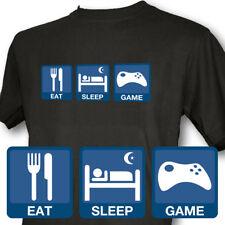 Eat Sleep Game Mens Black T-Shirt WII XBOX PS3 360 DSi