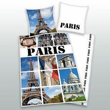 PARIS REPÈRES 100% HOUSSE DE COUETTE EN COTON COUVERTURE SET TOUR EIFFEL FRANCE