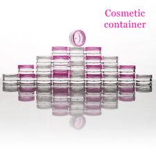 1-50 plastique SamplesPot vide 5ml vis Top récipients cosmétique clair/rose