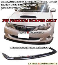 CS-Style Front Lip (Urethane) Fits 08-10 Impreza WRX