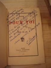 MAXAL Pour Toi [poésie]  1917  E.O. envoi