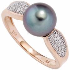 Perlenring Rotgoldring 585 Rotgold 1 Tahiti Perle 34 Diamanten Brillanten 44842