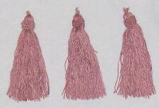 "Pink 5"" Polyfiber Drapery Dangle Tassles - Lot of 3"