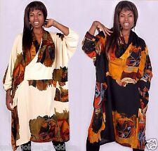 u pick color  tunic shirt top cowl neck block print rayon crinkle