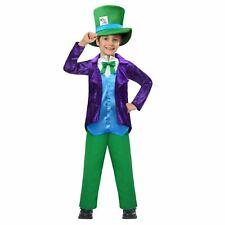 Ragazzi Cappello Mad Hatter Tea Party Paese delle Meraviglie FACTORY Blazer Viola Costume