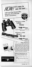 1956 Vintage Ad Bausch & Lomb Binoculars & BALvar 8 Rifle Sights