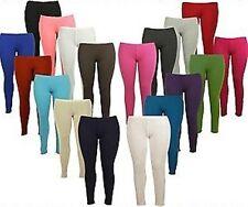 Mujer Tallas Grandes Largo Tobillo Completo Viscosa Leggings Pantalones Lisos
