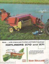 Farm Implement Brochure - New Holland - 270 271 - Hayliner Baler - c1961 (FB322)