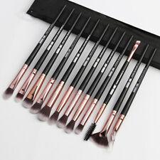 12PCS Eyeshadow/Concealer/Eyeliner/Blending/Eyebrow Eye Lip Make up Brushes Set