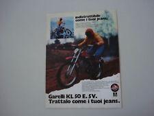 advertising Pubblicità 1974 MOTO GARELLI KL 50 E. 5V