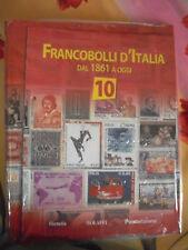 FRANCOBOLLI D'ITALIA DAL 1861 A OGGI - FASCICOLO N° 10 + ALBUM AD ANELLI