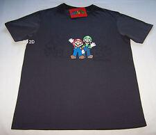 Nintendo Mario Luigi Mens Grey Printed Short Sleeve T Shirt Size L New