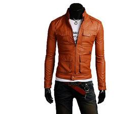Giacca Giubbotto in Pelle Uomo Men Leather Jacket Veste Blouson Homme Cuir N13b