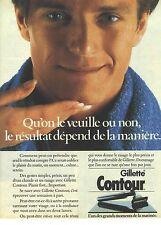 PUBLICITE ADVERTISING  1986   GILETTE CONTOUR lame a raser rasoir