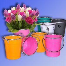 Metall Deko Eimer, Blumentopf Übertopf, Pflanzeimer, Pflanztopf