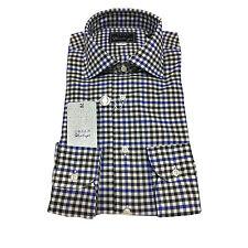 ORIAN VINTAGE camisa de hombre cuadrados ajustado 100% algodón