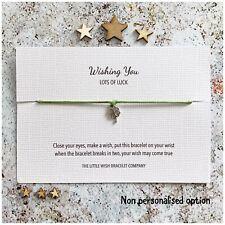 GOOD LUCK Wish Bracelet WISHING YOU LOTS OF LUCK, Custom Personalised options