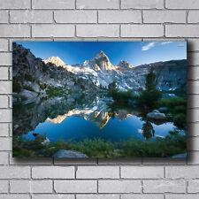 Beauty Mountains Lake Reflection Nature Scenery 14x21 27x40 Poster Wall Art T226