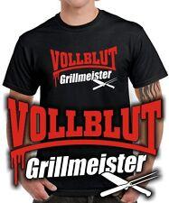 T-Shirt | VOLLBLUT GRILLMEISTER | Grillen | Grillgott | Koch | Kochen | Funshirt