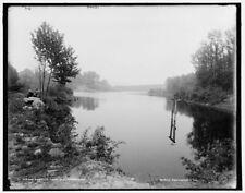 Photo of Howell's Lakes N J upper lake 1890 Detriot Publishing co. 10a