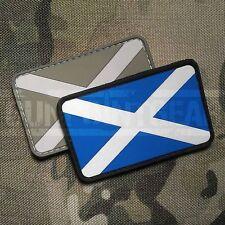 Gun Point Gear St Andrew's Cross Scottish Saltire Flag PVC  Patch Scotland