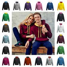 Sudadera con capucha para hombre con capucha Sudadera Varsity Contraste Suéter Con Capucha 30 Colores XS-5XL