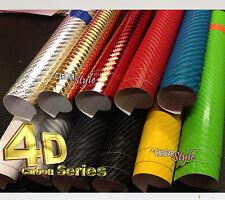 4D Gloss / 4 colori in Fibra di Carbonio Vinile Avvolgere con texture per auto & Home (LOOK Reale)