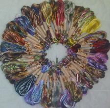 30 EmbroideryThreads Grande Madejas Arte Seda/Rayón Hilado Multi Colores Hilos