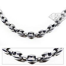 Accents Kingdom Men's 8MM Titanium Link Chain Necklace G