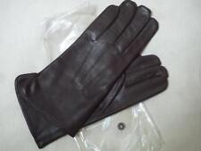 Elegante Lederhandschuhe Herren Handschuhe Leder gefüttert Wolle Beckumer Braun