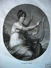 Tersicore musa danza originale 1800 Folo Benvenuti M