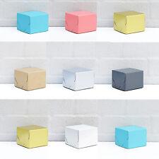 "4x4x3"" (x10 pc) SQUARE GIFT BOXES Cake Christmas Xmas Hamper Party choose colour"