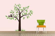 Wandtattoo wandaufkleber  kinderzimmer Baum  Eule Zweig wbm31