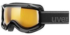 UVEX Goggle Ski Snowboard Gafas Sioux Pure Black mat-lens-sheric goldlite s1