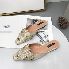 zapatillas elegantes zuecos oro strass suela elegantes cómodo como piel 9841