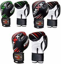 Maxx Gel Shock Junior Leather Boxing Gloves Fight PunchBag MMA Muay thai Ufc