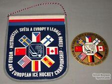 1978 World Hockey Championships Banner + Sticker
