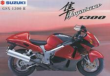 SUZUKI GSX 1300 R HAYABUSA PROSPEKT 12/98 1998 brochure opuscolo MOTO MOTO