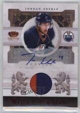 2010-11 Panini Crown Royale #JE Jordan Eberle Edmonton Oilers Auto Hockey Card
