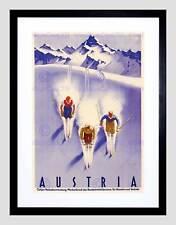 Turismo Viaggi Austria sport invernali sci neve ALP Framed Art PRINT MOUNT b12x3352