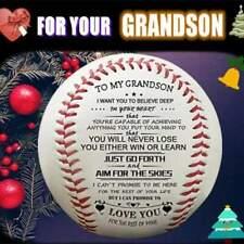 Hand Made Baseball Softball Engraved To Grandson Son For Christmas,Birthday Gift