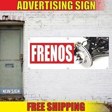 FRENOS Advertising Banner Vinyl Mesh Decal Sign SPANISH BRAKES AUTO CAR REPAIR