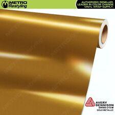 Avery Supreme GLOSS GOLD METALLIC Vinyl Vehicle Car Wrap Film Roll SW900-215-M