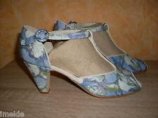 Leonie T- Spangen Sandalette NEU Gr. 39 oder 41 in & Lack Leder blau kombiniert