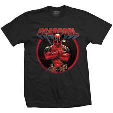Deadpool T Shirt Mens Official Marvel Black Crossed Arms S,M,L,XL,2XL Free P+P