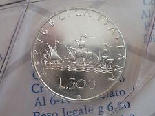 500 LIRE CARAVELLE DAL 1968 AL 2001,FDC,ARGENTO ,DA SERIE DIVISIONALE