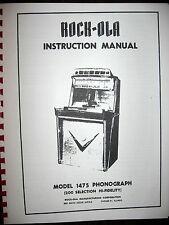 Rock-ola 1475 Service & Parts Jukebox Manual