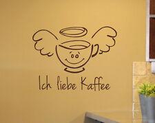 Ich Liebe Kaffee Deko Tasse Küche Aufkleber Wandsticker Wandaufkleber WandTattoo