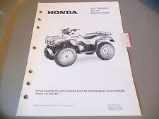 Honda Setup Instructions Manual 2001 TRX450ES TRX450 ES